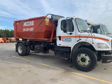 Moore Waste and Recycling Roll off and compactor trash truck dallas fort worth tx